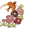 Carlo Zini  Spilla fiori