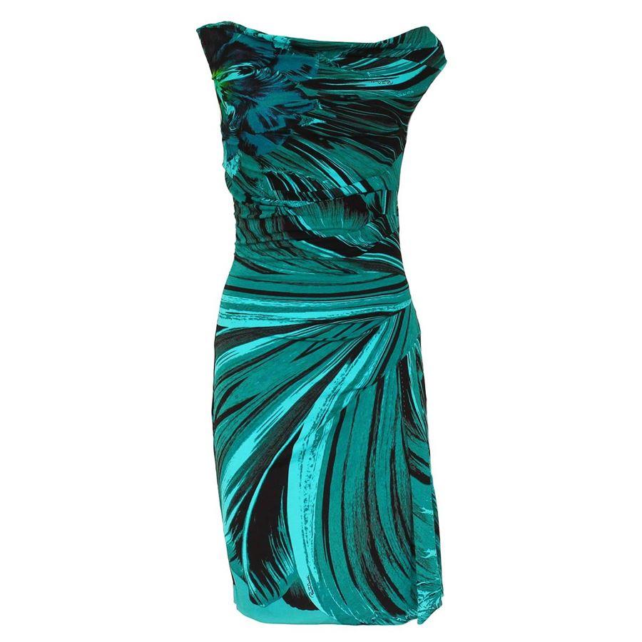 premium selection 124c2 aa94f Roberto Cavalli - Abito verde acqua | ComeNuovo Luxury selection